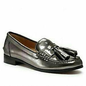 Coach Pewter Tassel Loafers (Gentle Wear)